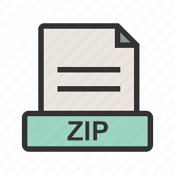 computer, data, file, files, folder, zip, zipped icon
