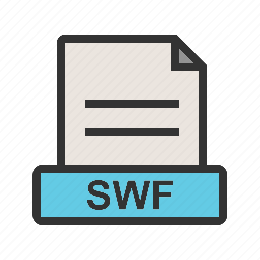 computer, document, download, file, format, swf icon