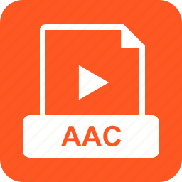 aac, audio, design, file, format, interface icon