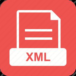 file, graphic, sign, web, website, xml icon