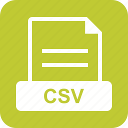 csv, data, document, extension, file, sign icon