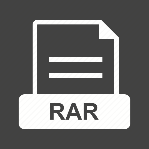 archive, creative, file, graphic, rar, sign icon