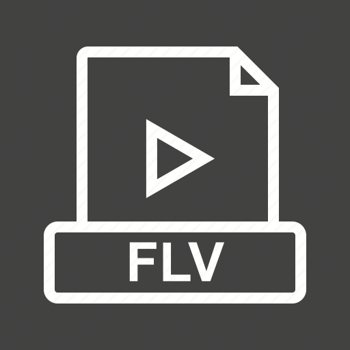 document, download, file, flv, format, movie, multimedia icon