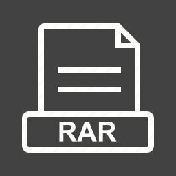 archive, creative, file, graphic, rar, sign icon