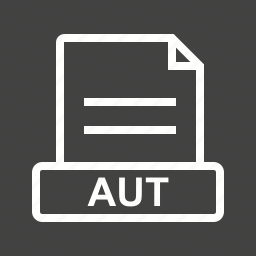 aut, document, file, file extension, file type, format icon