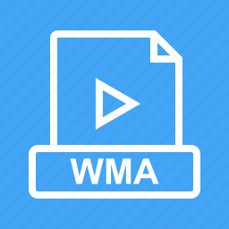 audio, file, format, graphic, image, sign, wma icon