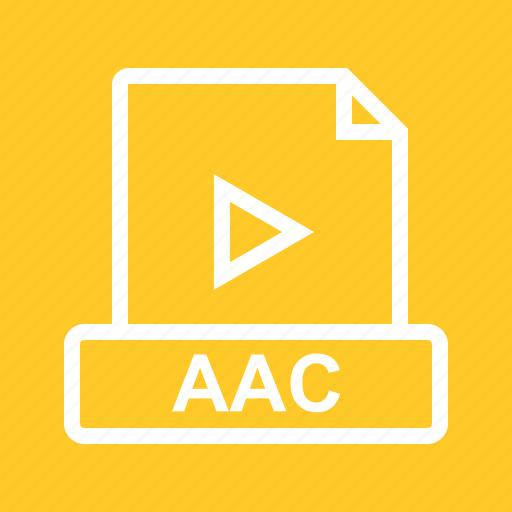 aac, audio, file, format, interface icon