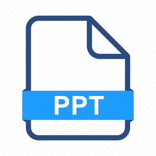 document, extension, file, files, format, ppt icon