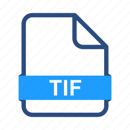 document, documents, extension, file, format, tif icon