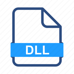 dll, document, documents, extension, file, format icon