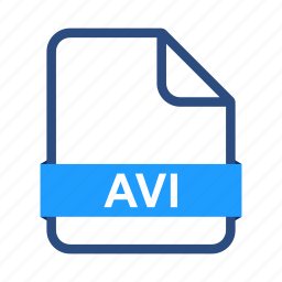 avi, document, extension, file, files, type icon