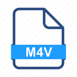 document, documents, extension, file, format, m4v icon