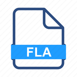 document, documents, extension, file, fla, format icon