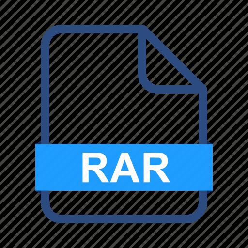 data, document, documents, file, format, rar icon