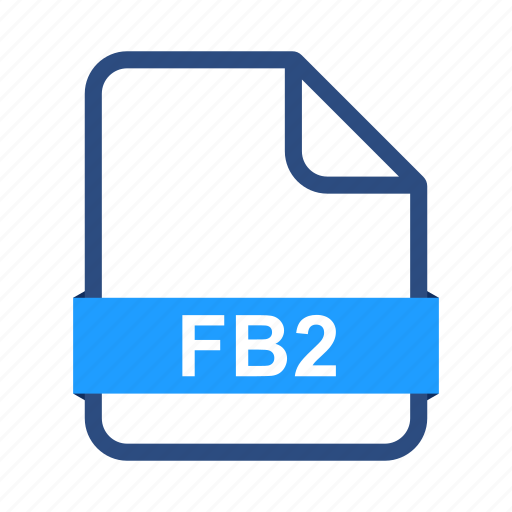 document, documents, extension, fb2, file, format icon