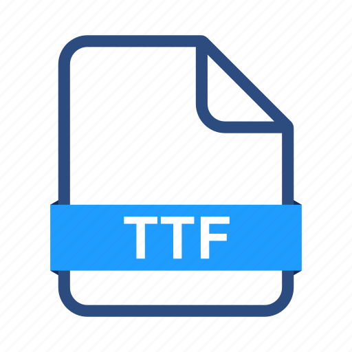 file, file formats, misc, ttf icon