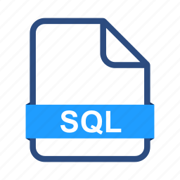document, documents, extension, file, format, sql icon