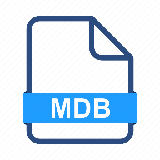 document, extension, file, files, format, mdb icon