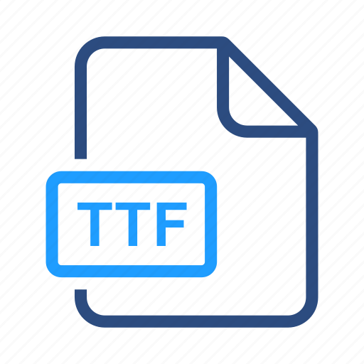 file formats, misc, ttf icon