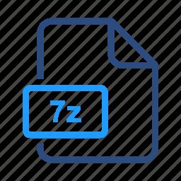7z, file, format, zip icon