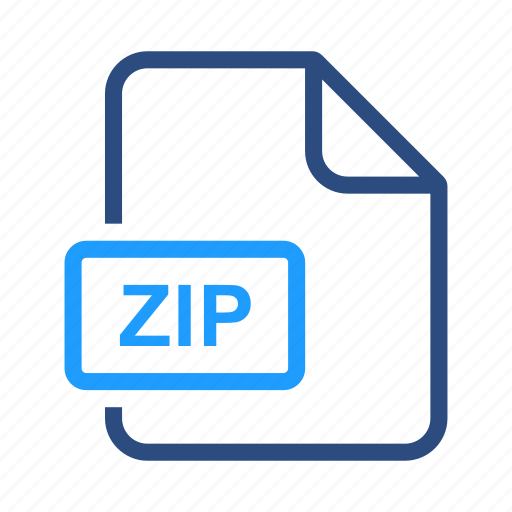 document, file, format, zip icon