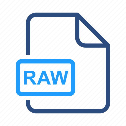 file, format, image, raw icon