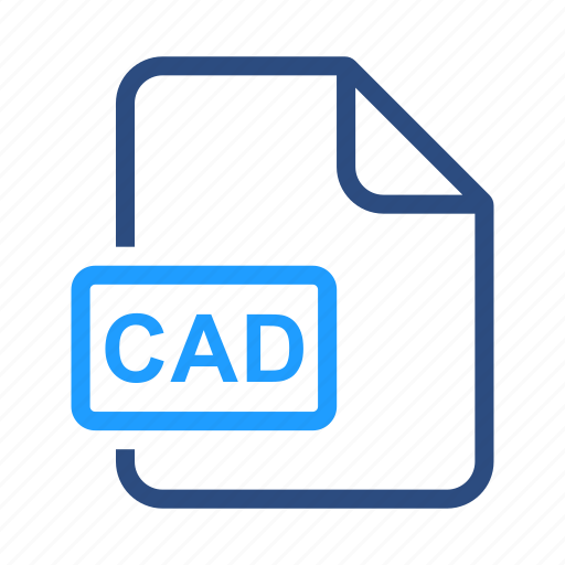 cad, extensiom, file, file format icon