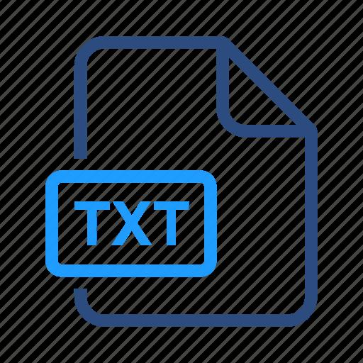 document, file, name, txt icon