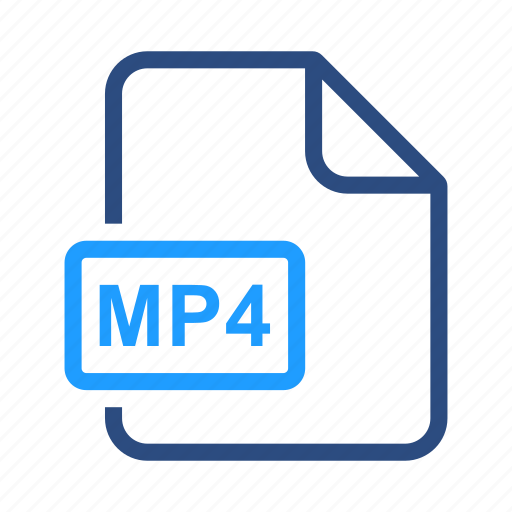 extensiom, file, file format, mp4 icon