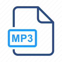 extensiom, file, file format, mp3 icon
