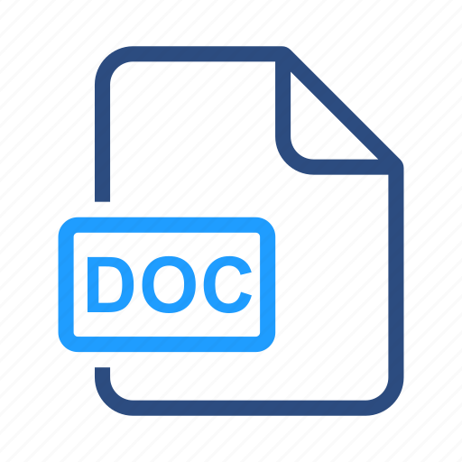 doc, docx, extensiom, file, file format icon