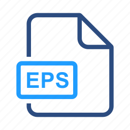 eps, extensiom, file, file format icon