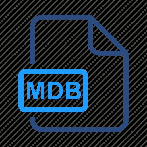 file, format, mdb icon