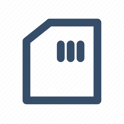 card, file, manager, memory, outline, sd card, storage icon