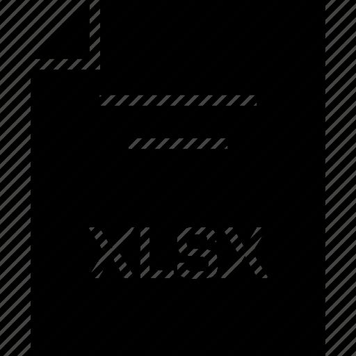 document, extension, name, xlsx icon