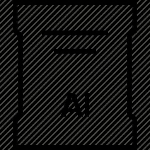 ai file, extension, file, illustrator, name icon