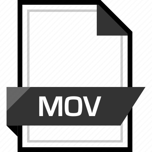 document, extension, file, mov icon