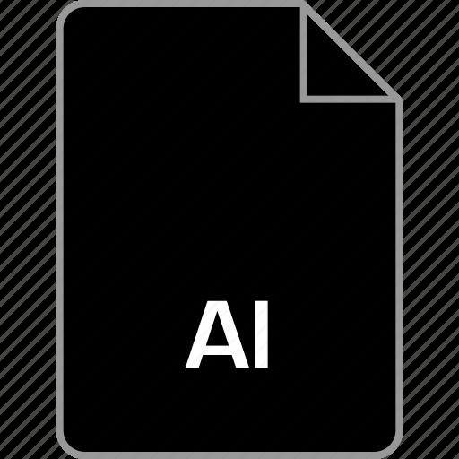 extension, file, illustrator icon