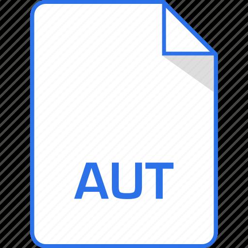 aut, document, extension, page icon