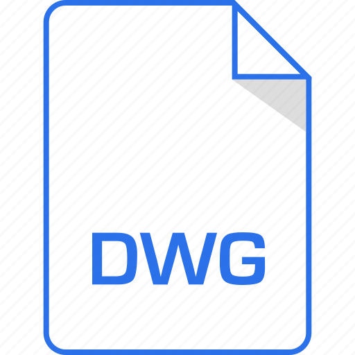 document, dwg, extension, page icon