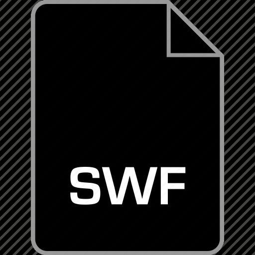 extension, file, flash, swf icon