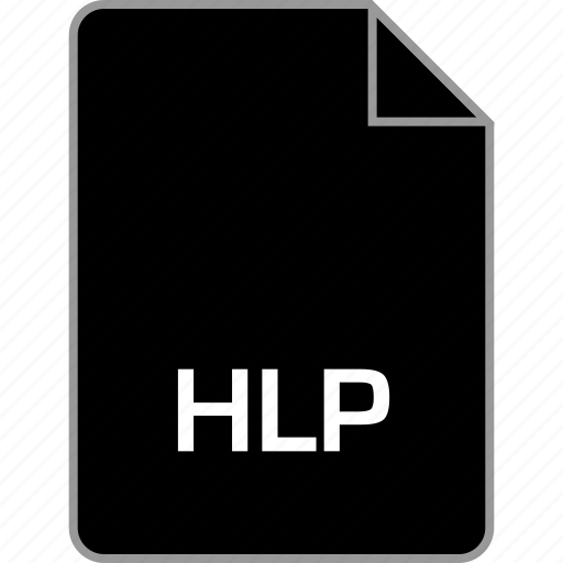 extension, file, help, hlp icon