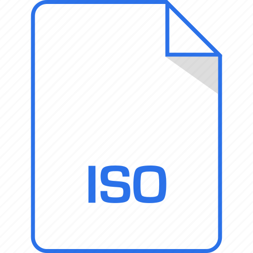 document, extension, iso, page icon
