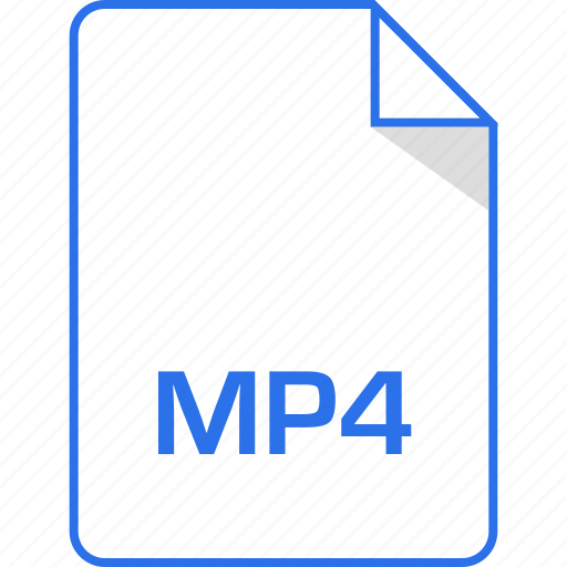 document, extension, mp4, page icon