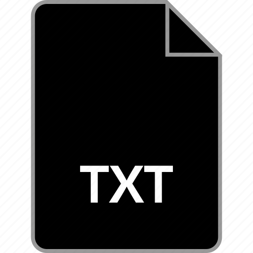 extension, file, text, txt icon