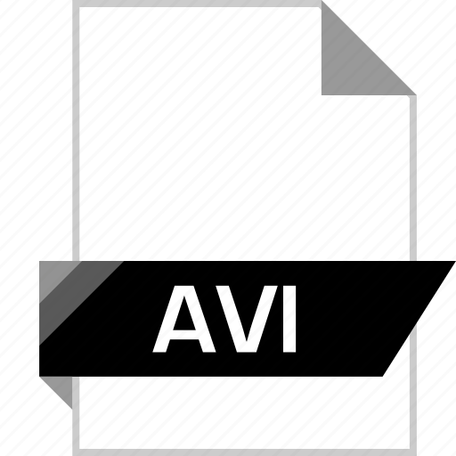 avi, extension, file, page icon