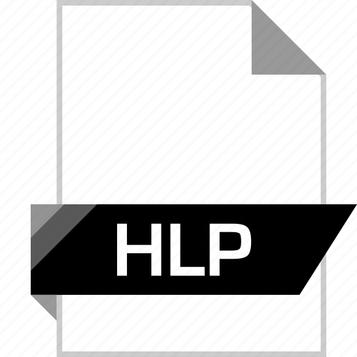 file, help, hlp, name icon
