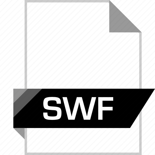 file, flash, name, swf icon