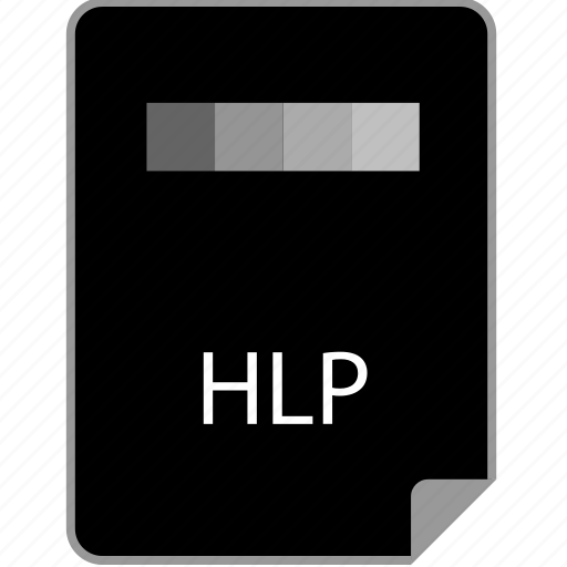 extension, help, hlp, page icon