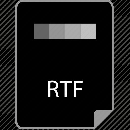 extension, page, rtf icon